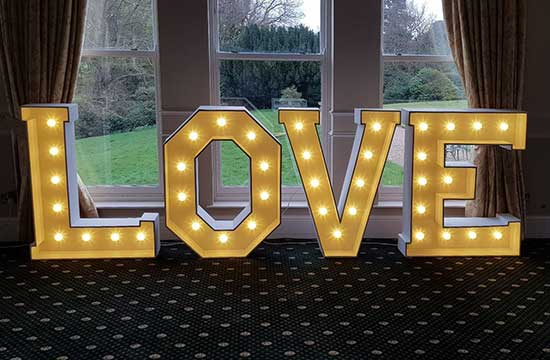 Giant love letter hire hull east yorkshire