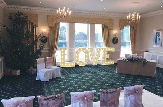 dj and giant love letter hire hull wedding discos