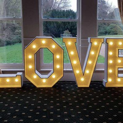 light up love letter hire east Yorkshire DJ