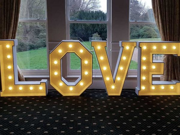 light up love letter hire east Yorkshire DJ