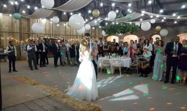 Sledmere house wedding DJ barn